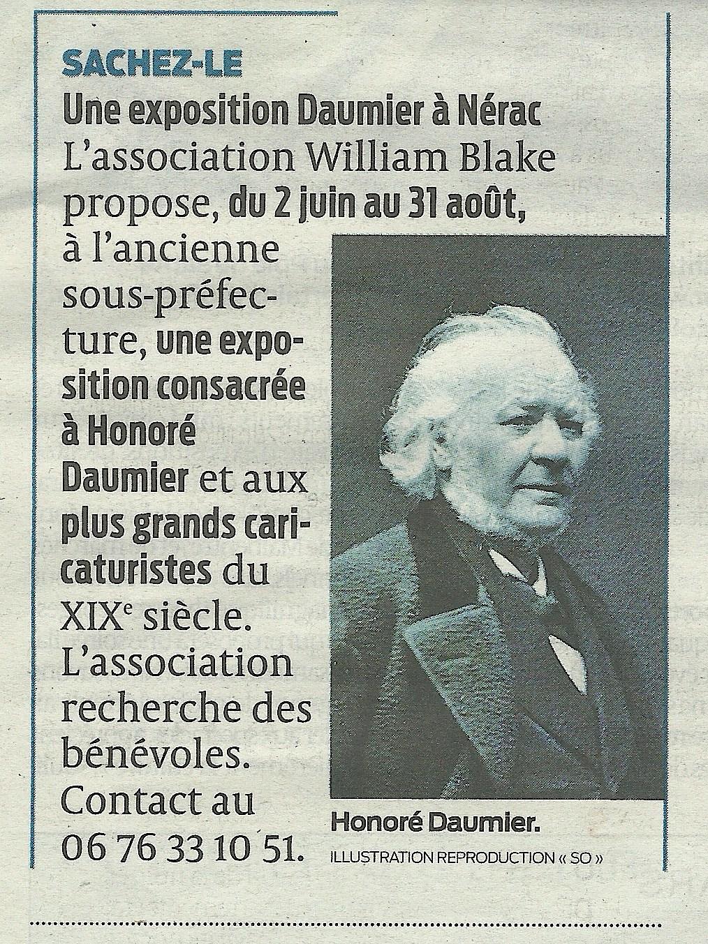 Une exposition Daumier à Nérac