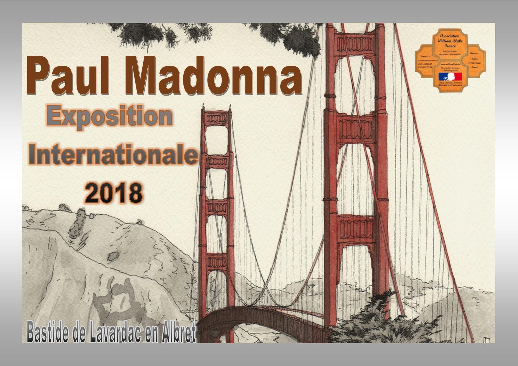 Exposition Paul Madonna 2018: les œuvres exposées.