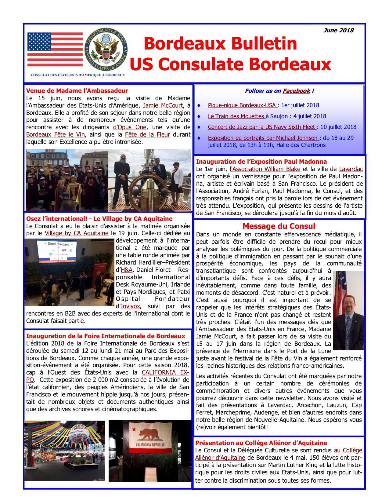 Bulletin US Consulate Bordeaux