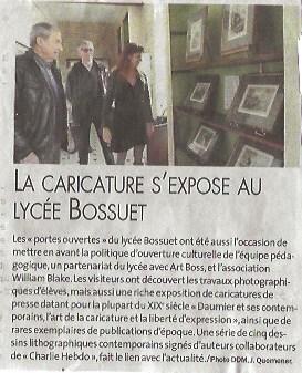 La caricature s'expose au lycée Bossuet