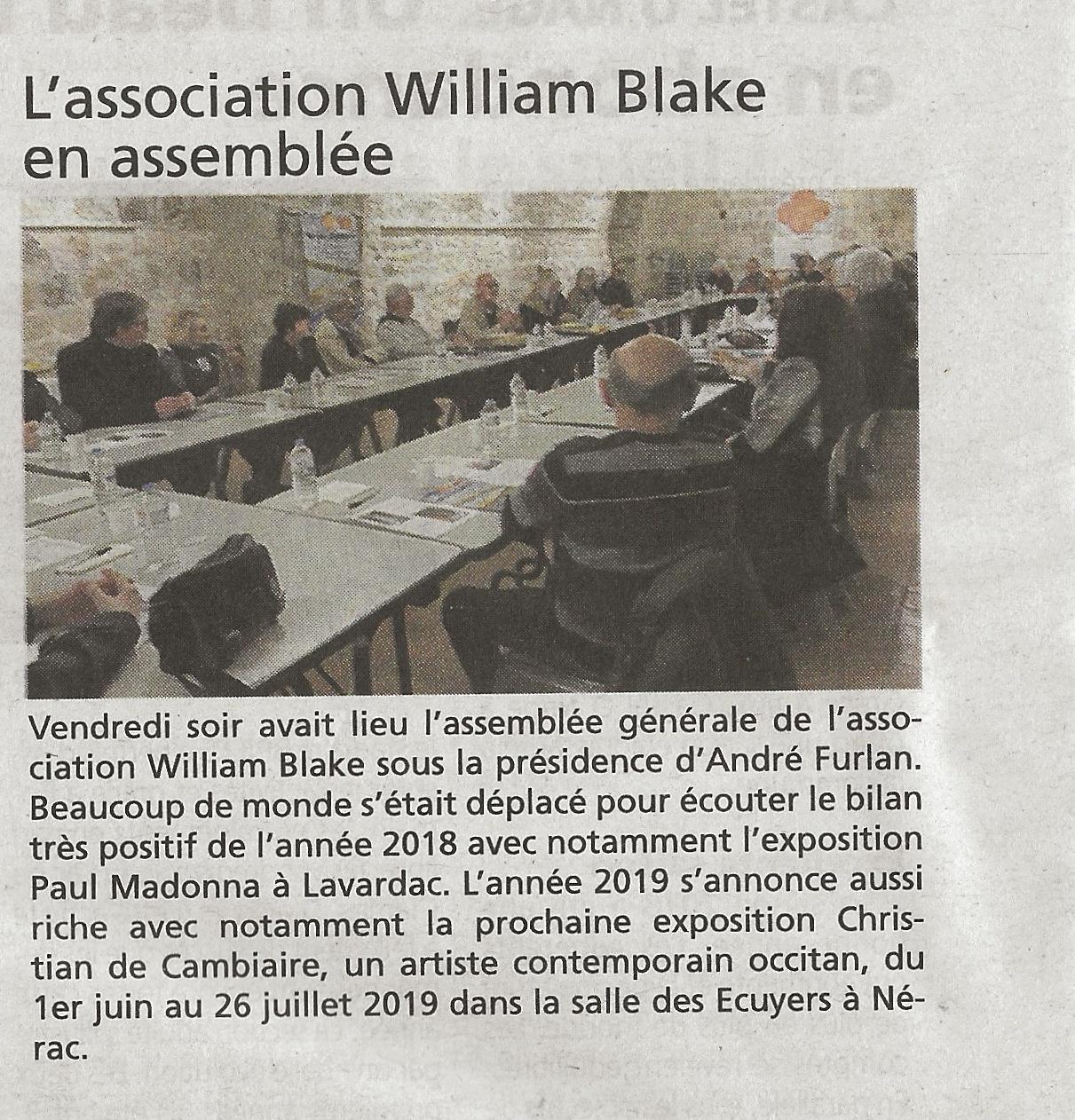 Assemblée générale WB 2019