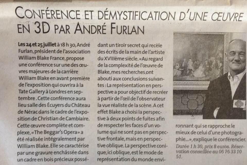 Conférence d'André Furlan