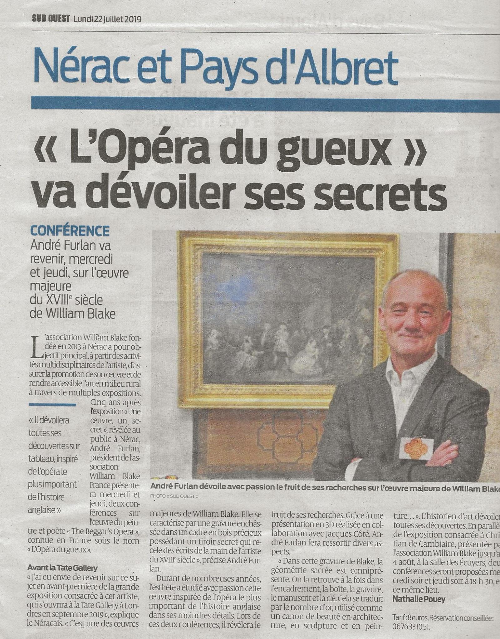 """""""L'opéra du gueux va dévoiler ses secrets"""""""