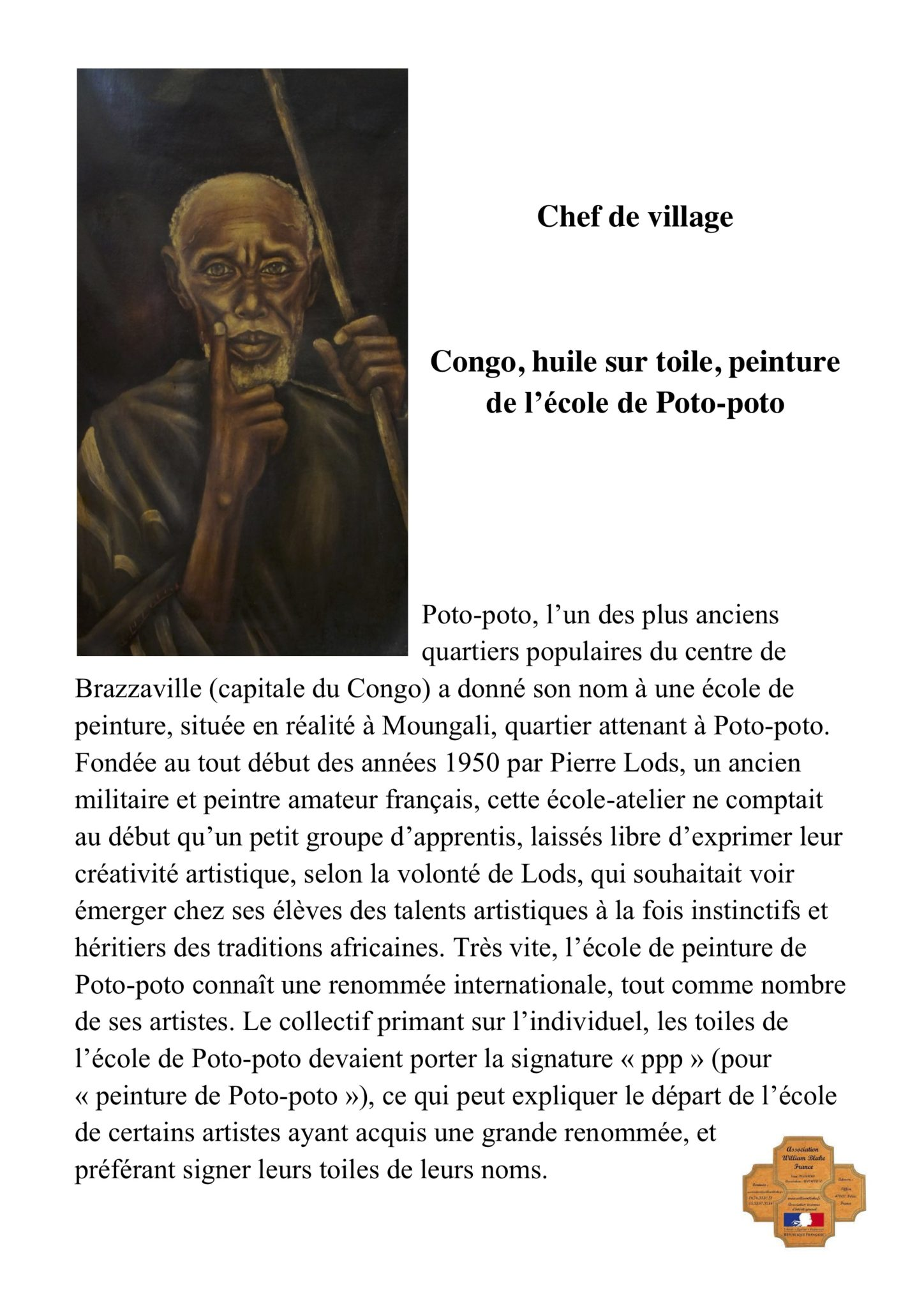 Chef de village Poto-poto