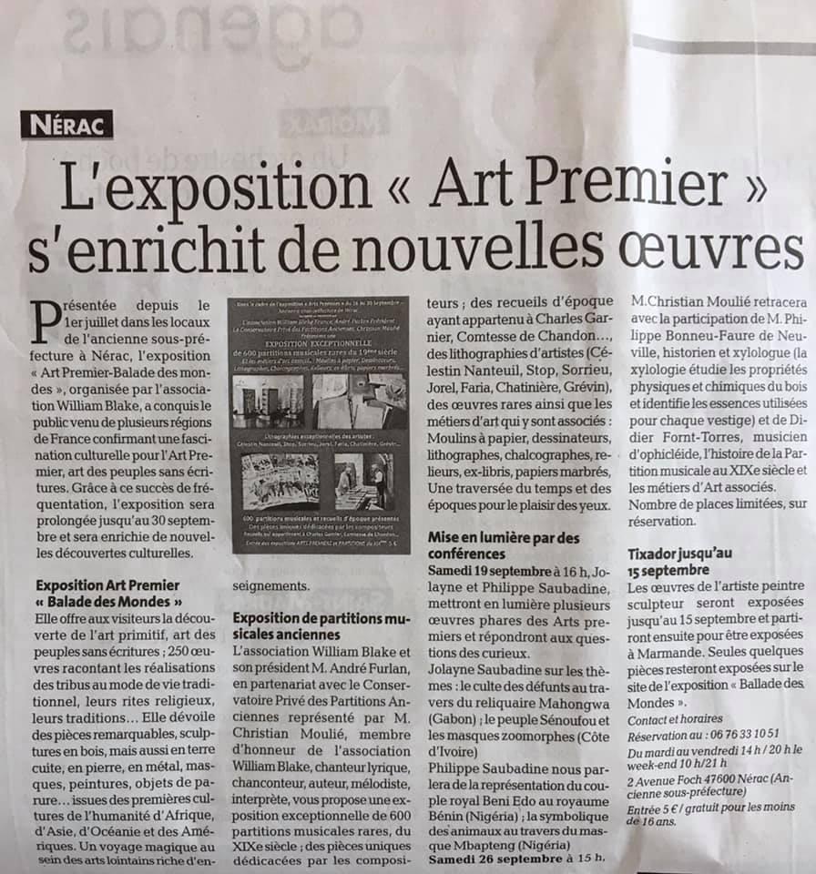 """L'exposition """"Art Premier"""" s'enrichit de nouvelles oeuvres."""