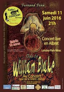 """Fernand Pena en Concert live : """" Ode to William Blake """""""