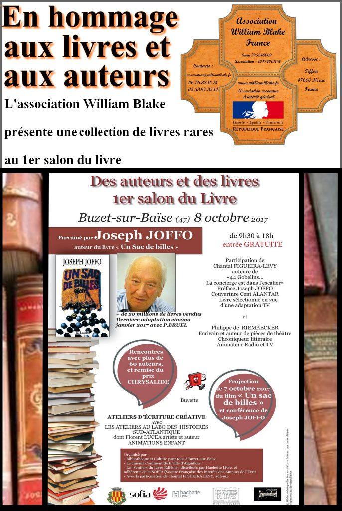 Collection de livres rares au salon du livre de Buzet sur Baïse le 8 octobre 2017