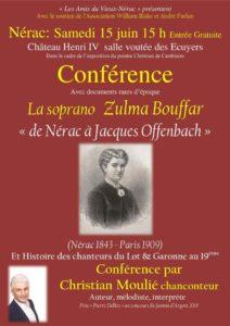 """Conférence """" De Nérac à Jacques Offenbach"""" par Christian Moulié"""